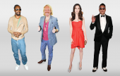 A range of life size celebrity cut outs and face masks including household names such as Brad Pitt, Angelina Jolie and Ant and Dec!