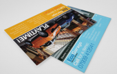 This format of flyer is deal to use as tickets or vouchers to promote your latest sale or event, and as easy to pocket and save marketing pieces that remind your audience why they should be getting in touch and buying from you.