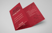 Maximise the potential of your folded leaflet with a good graphic design.
