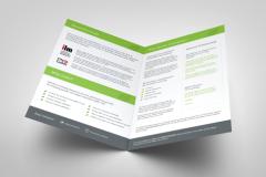 FREE Blank Folded Leaflet Templates