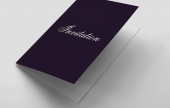 Our standard folded invitations are perfect for small to medium functions.