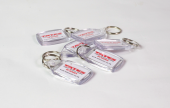 Stay in people's memory with a personalised key ring.