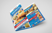 A range of leaflets, flat and folded, specifically for door to door distribution and mass marketing. Perfect for Fast Food establishments, Pizza leaflets etc.