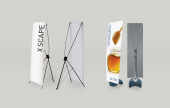 Our range of tension banner systems come in a variety of sizes - great for exhibitions, both indoor and outdoor.