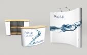 Large exhibition systems. Smart, stylish and quick - Pop Up Banners let you attract attention wherever you go. Pop up in seconds.