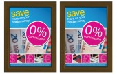 An elegant wooden effect for displaying your posters.