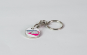 A clever way of getting noticed with a custom trolley token.