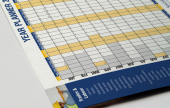 A branded year planner to keep your customers wall organised