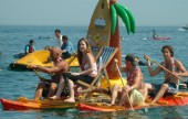 We attended Brighton's legendary 'Paddle Round The Pier' beach festival in July.