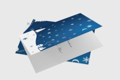 Snow Scene Christmas Card Design