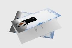 Snowman 3D - Downloadable Christmas Card Design