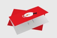 Snowman Head - Christmas Card Template