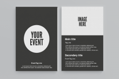 FREE Leaflet Download with a Circle Design