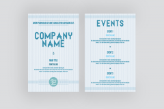 FREE Leaflet and Flyer Template - Soft Blue Nautical Theme