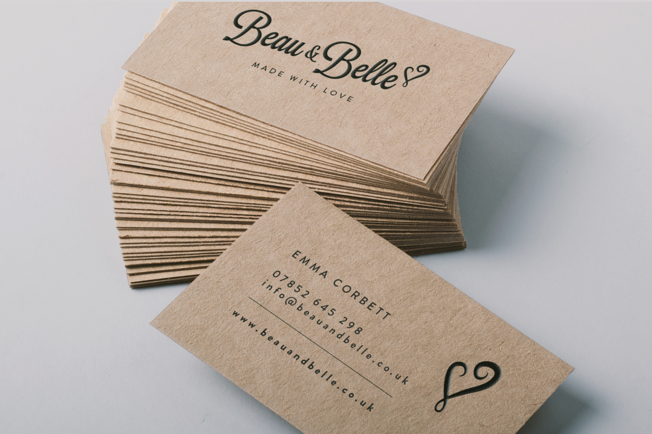 Brown Kraft Board Business Cards