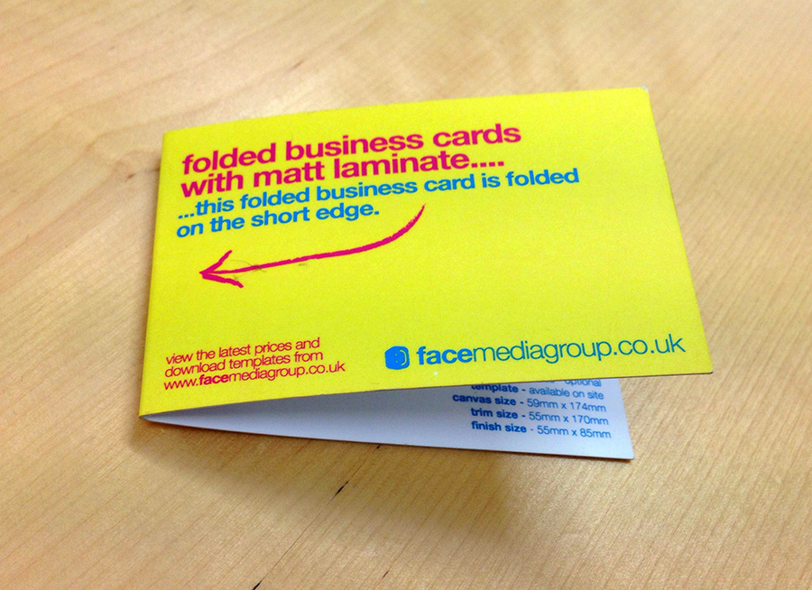 Folded Business Card Printing UK