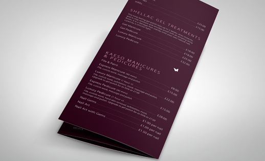 Menu Printing Face Media Group - Foldable menu template