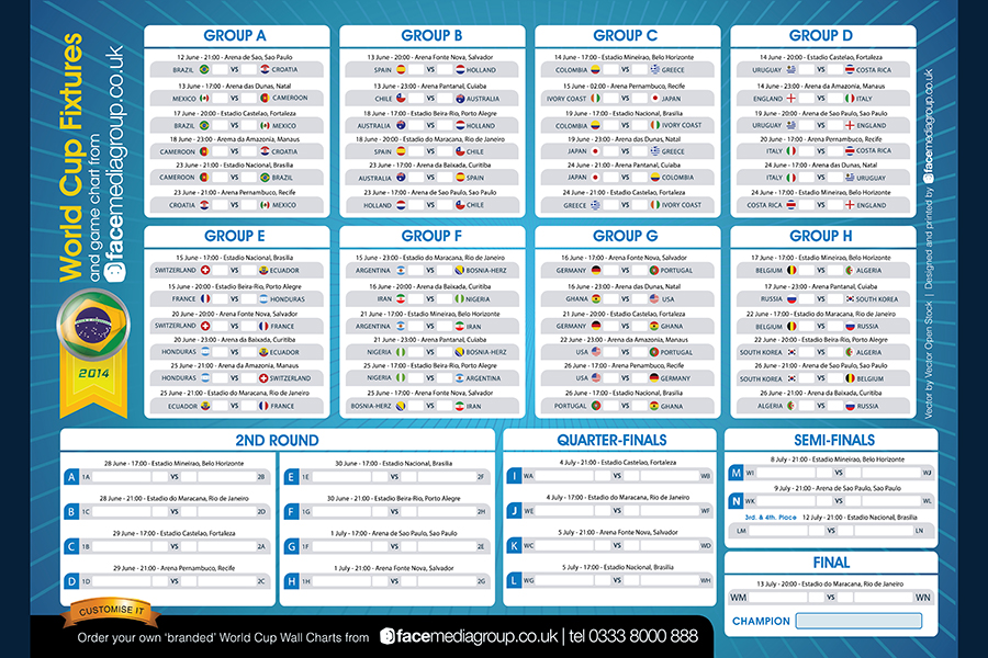 download a free brazil world cup 2014 wall chart and sweep
