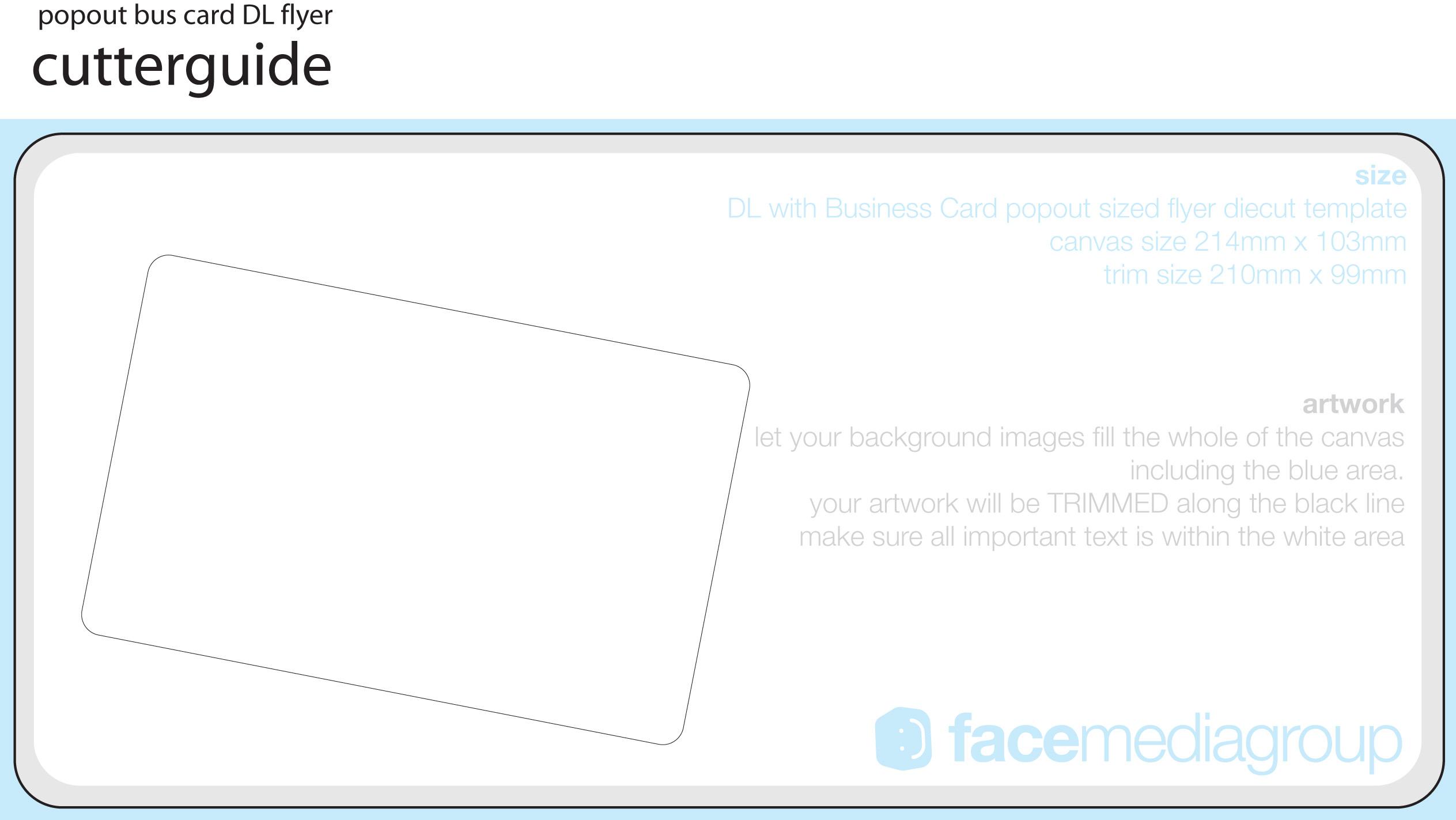 FREE Blank Die Cut Flyer Templates
