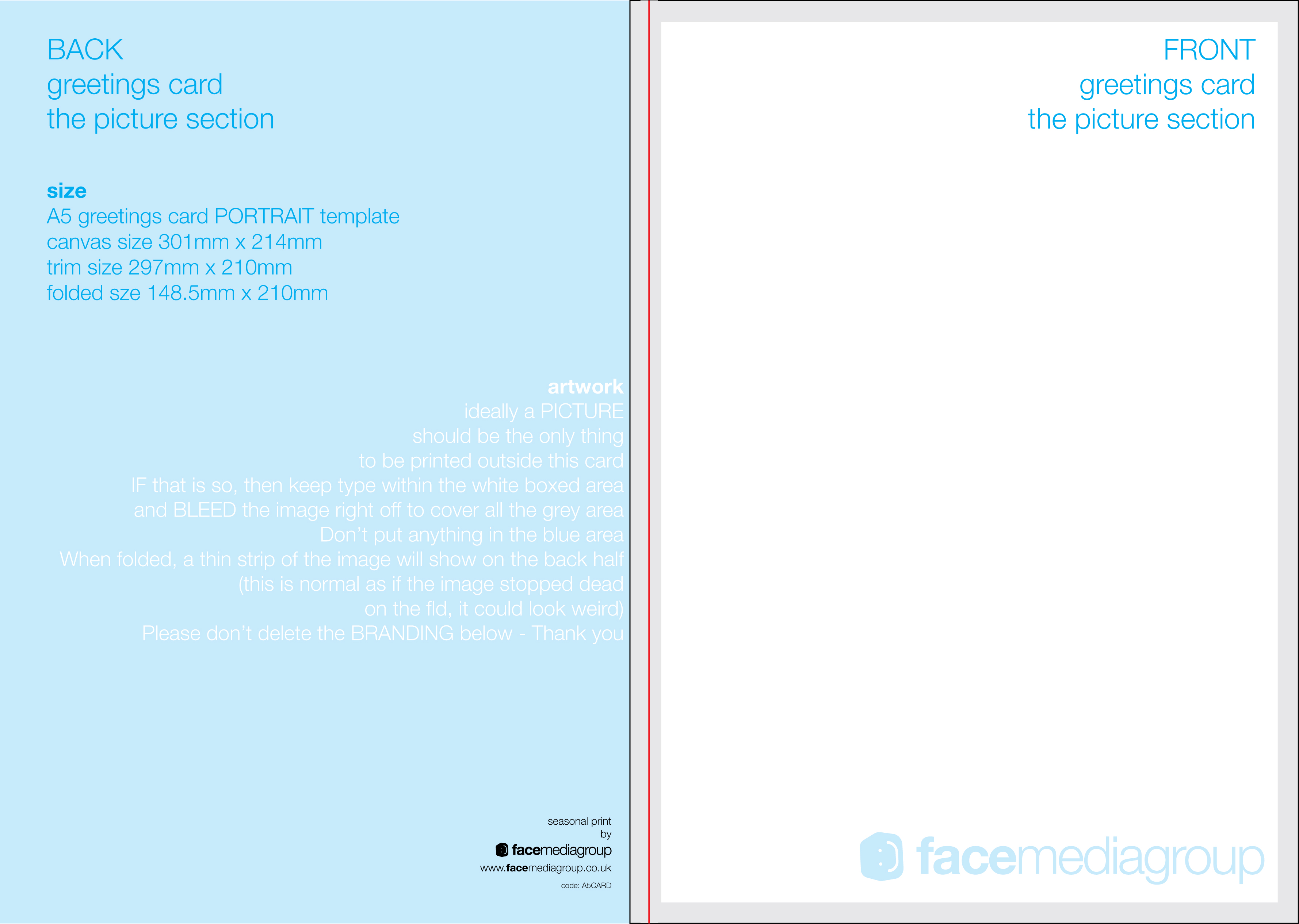 free blank greetings card artwork templates for download face