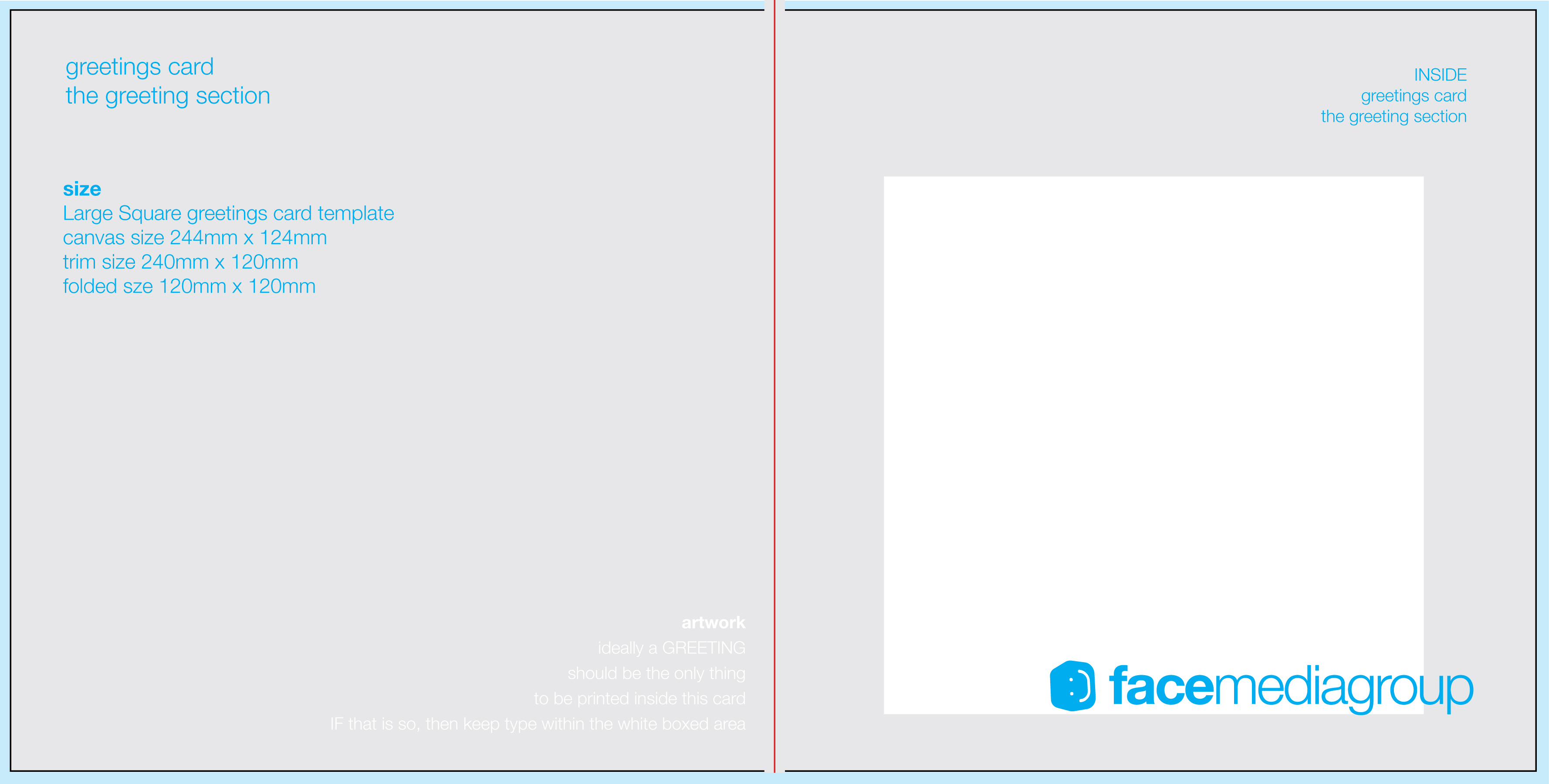 free blank greetings card artwork templates for download | face