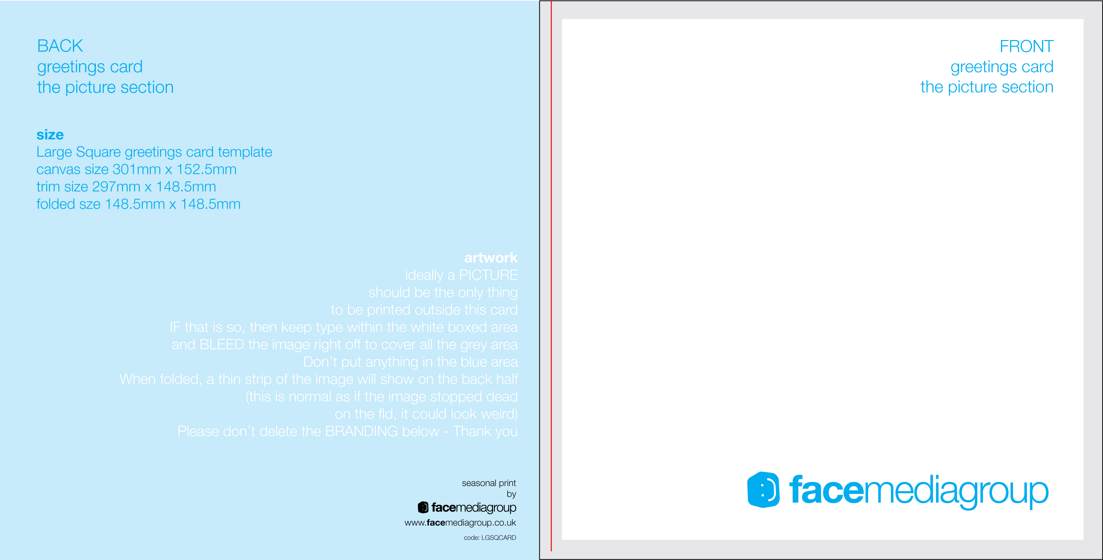 FREE Blank Greetings Card Artwork Templates for Download – Free Blank Greeting Card Templates