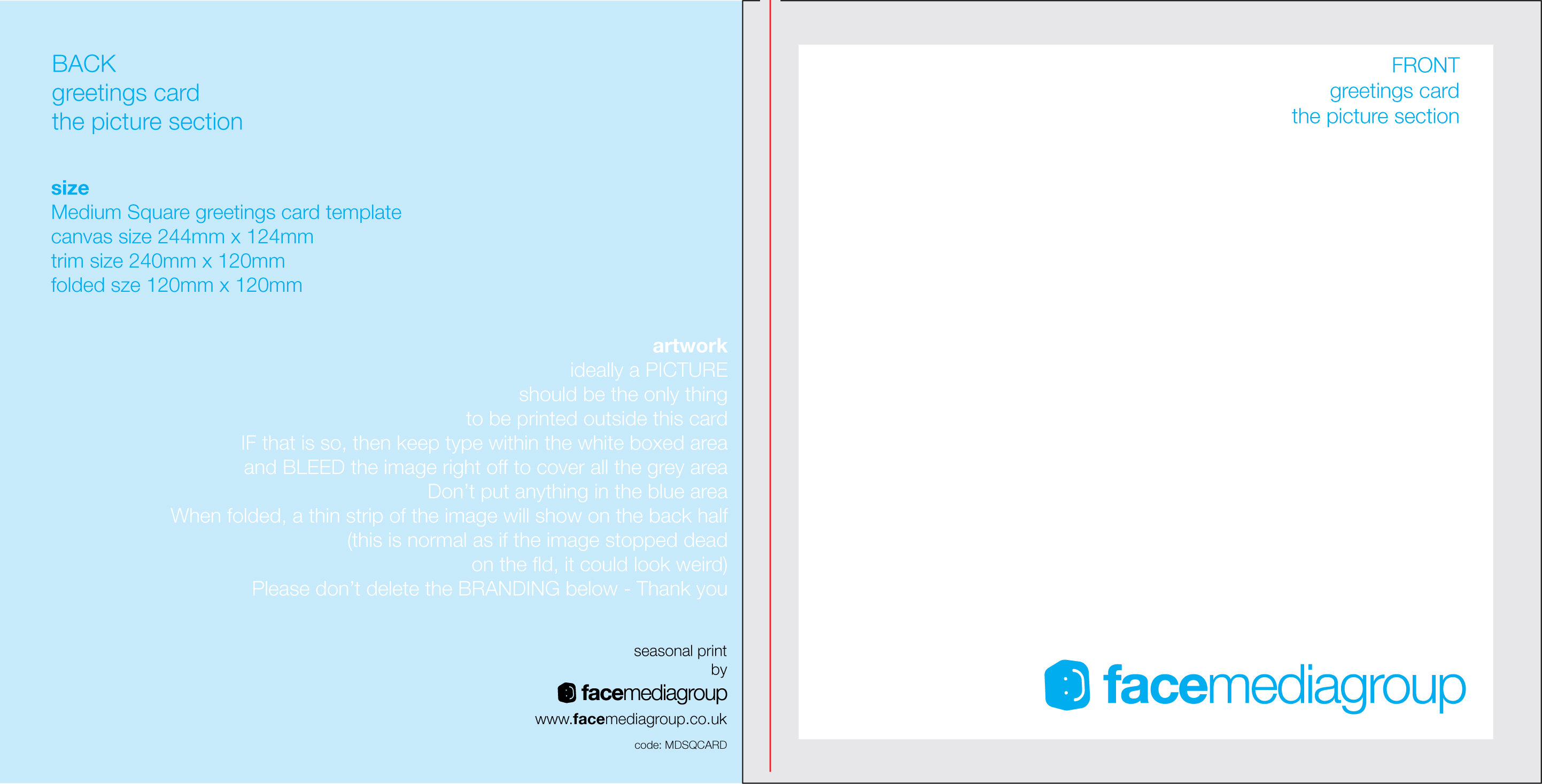 Free blank greetings card artwork templates for download face blank greetings card template medium square 240 folded to 120 outside jpg download blank greetings card kristyandbryce Image collections