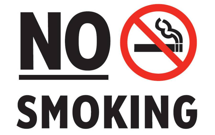 Terrible image within free printable no smoking signs